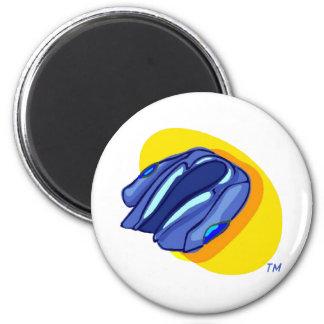 Blu Jacket's Blue Jacket 6 Cm Round Magnet