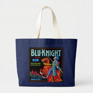 Blu Knight Fruit Label Large Tote Bag