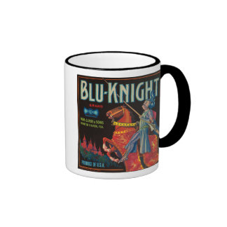 Blu Knight Vintage Crate Label Coffee Mug