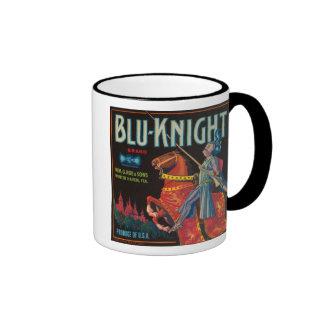 Blu Knight Vintage Crate Label Ringer Mug
