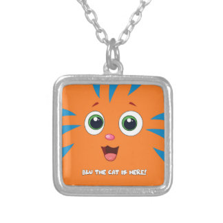 Blu The Cat Square Pendant