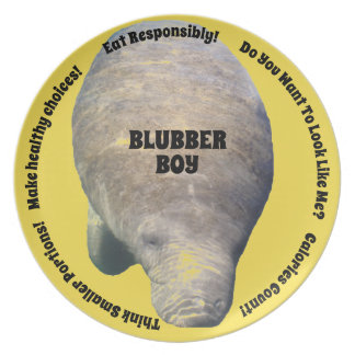 Blubber Boy Diet Plate Yellow
