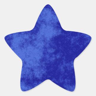 Blue1 Soft Grunge Design Star Sticker
