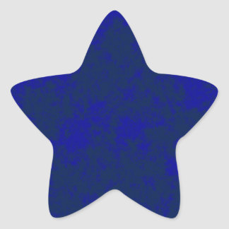 Blue2 Soft Grunge Design Star Sticker