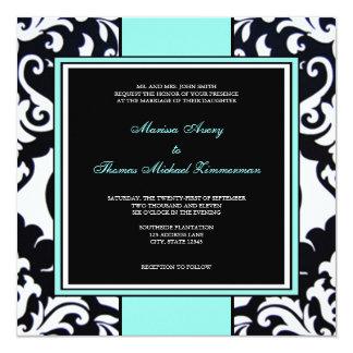 Blue 13 Cm X 13 Cm Square Invitation Card