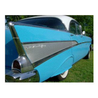 Blue 1957 Chevy Postcard