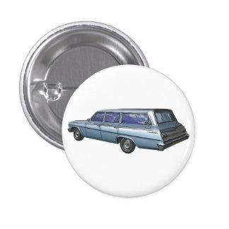 Blue 1962 Chevrolet station wagon Button