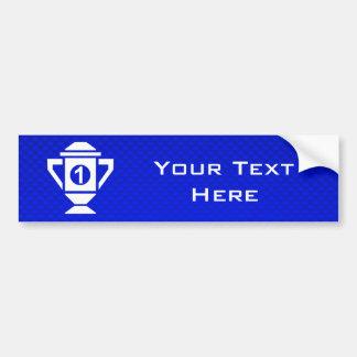 Blue 1st Place Trophy Car Bumper Sticker