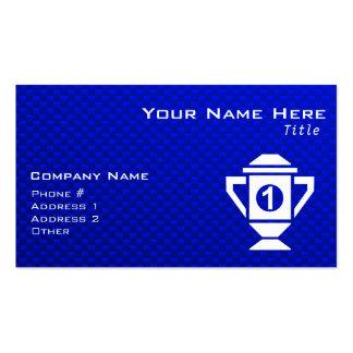 Blue 1st Place Trophy Business Card
