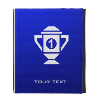 Blue 1st Place Trophy iPad Case