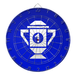 Blue 1st Place Trophy Dartboard With Darts