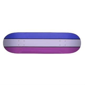Blue & 2 tone purple SK8 Deck 21.3 Cm Mini Skateboard Deck