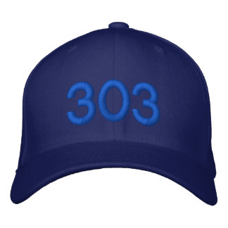 BLUE 303 HAT EMBROIDERED HAT