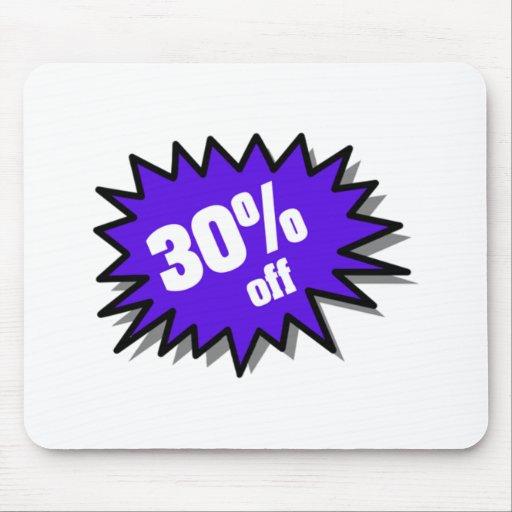 Blue 30 Percent Off Mousepads