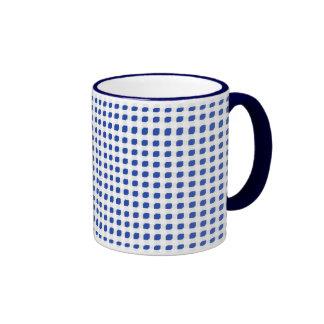 Blue 3 Side Boxes Ringer Coffee Mug