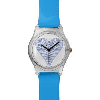Blue 3D Heart Watch
