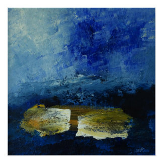 Blue 51 cm x 51 cm  Poster Paper