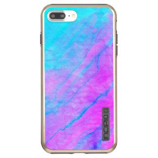 Blue 90s Street Art Graffiti Watercolor Stone Incipio DualPro Shine iPhone 8 Plus/7 Plus Case