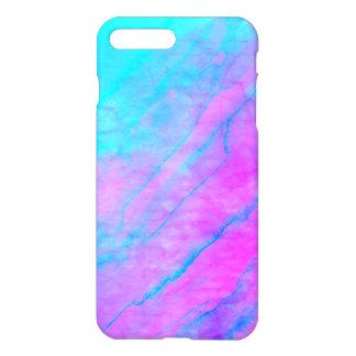 Blue 90s Street Art Graffiti Watercolor Stone iPhone 8 Plus/7 Plus Case
