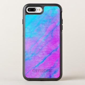 Blue 90s Street Art Graffiti Watercolor Stone OtterBox Symmetry iPhone 8 Plus/7 Plus Case