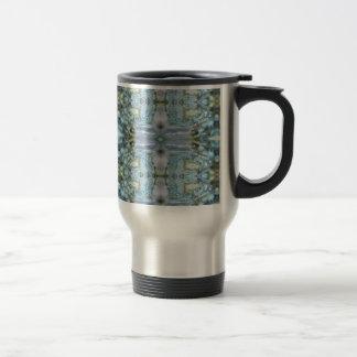 Blue Abalone Design Travel Mug