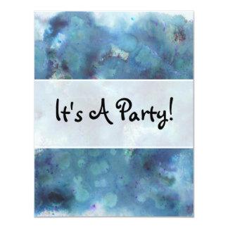 Blue Abstract. 11 Cm X 14 Cm Invitation Card