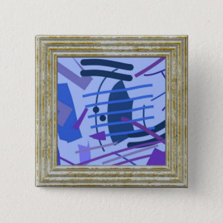Blue Abstract 15 Cm Square Badge