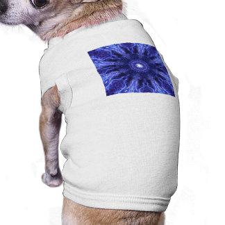 Blue Abstract Ancient Art Sleeveless Dog Shirt