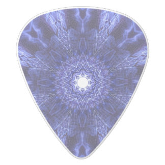 Blue Abstract Ancient Art White Delrin Guitar Pick
