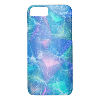 Blue Abstract Background With Polygonal Shapes iPhone 7 Case