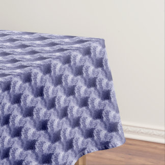 Blue Abstract Brush Texture Pattern Tablecloth