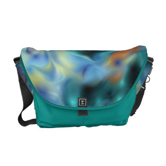 Blue Abstract Commuter Bag