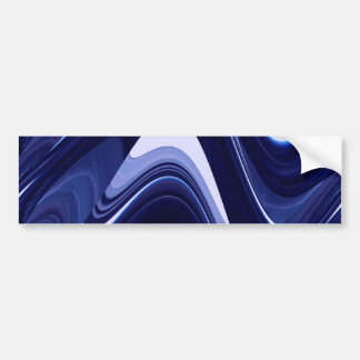 Blue Abstract Contemporary Modern Art Bumper Sticker