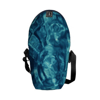 Blue Abstract Courier Bag