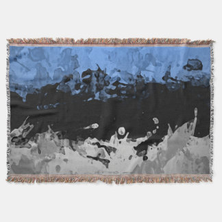 Blue Abstract dark and congregation blanket