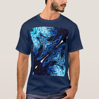 Blue Abstract Design Mens T-Shirt