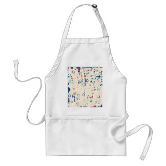 Blue abstract design standard apron