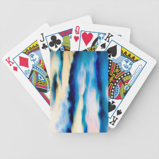 Blue Abstract Falling Water Bicycle Playing Cards
