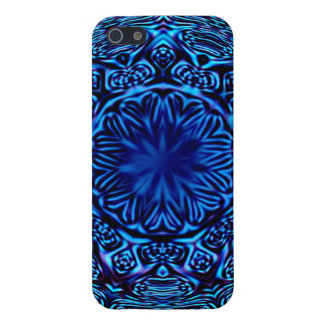Blue Abstract Flower iPhone 5/5S Case