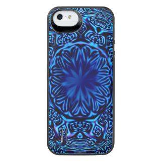Blue Abstract Flower iPhone SE/5/5s Battery Case