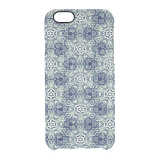 Blue abstract flower pattern iPhone case