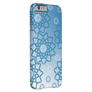 Blue abstract flowers barely there iPhone 6 case