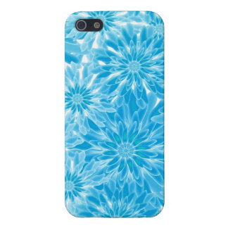 Blue Abstract Flowers Digital Art iPhone 5 Case