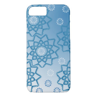 Blue abstract flowers iPhone 7 case