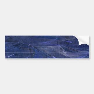 Blue Abstract Fractal Background Bumper Sticker