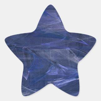 Blue Abstract Fractal Star Sticker
