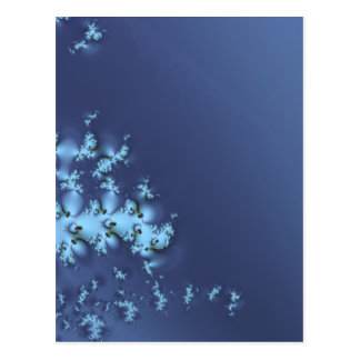 Blue Abstract Futuristic Space Cosmic Design Illus Postcard