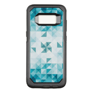 Blue Abstract Geometrical Background Template OtterBox Commuter Samsung Galaxy S8 Case