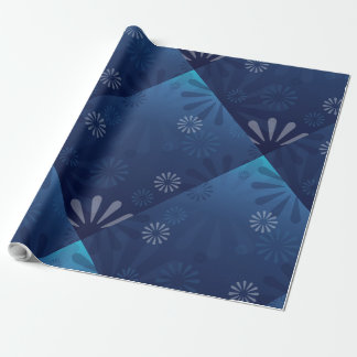 blue abstract gift wrapping paper