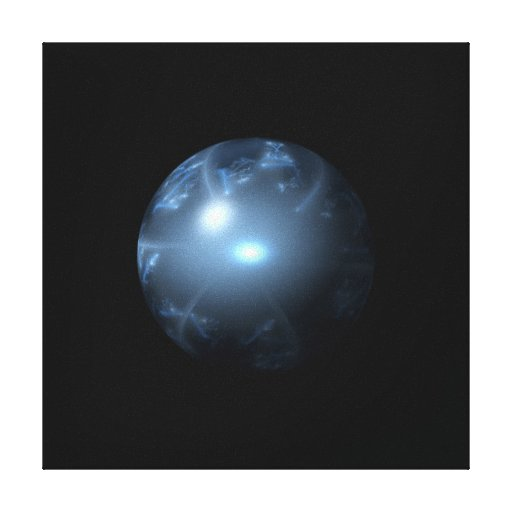 Blue Abstract Globe Canvas Prints